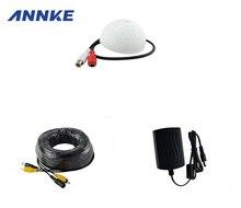 ANNKE CCTV Высокочувствительный Микрофон Камеры Безопасности RCA Аудио Mic DC Кабель Питания Для Домашней Системы Безопасности