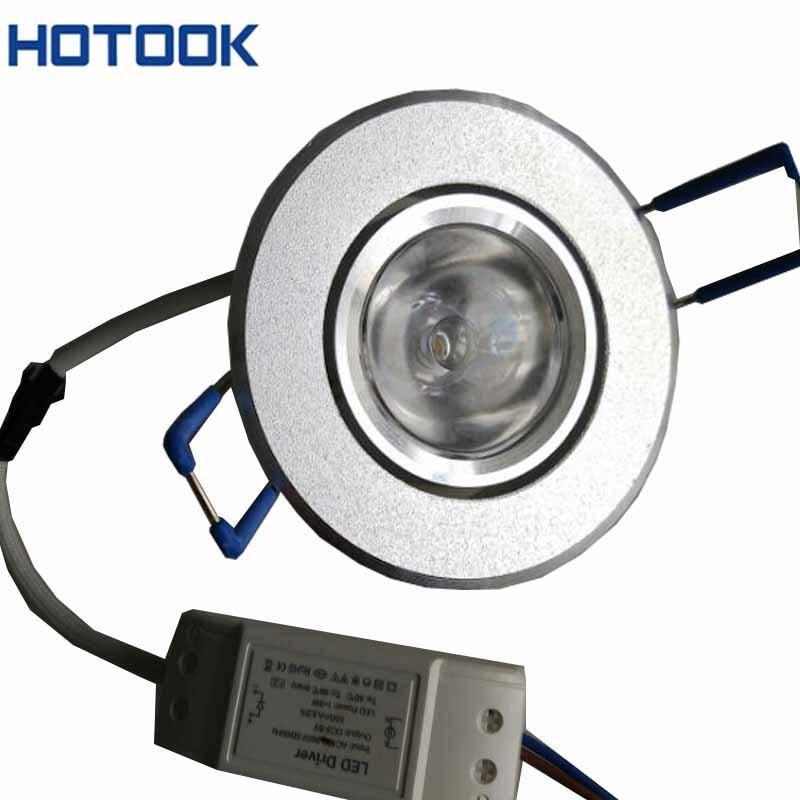 10pcs Mini Light 3w recessed aluminum downlight led driver AC 85 265V LED Spot light for