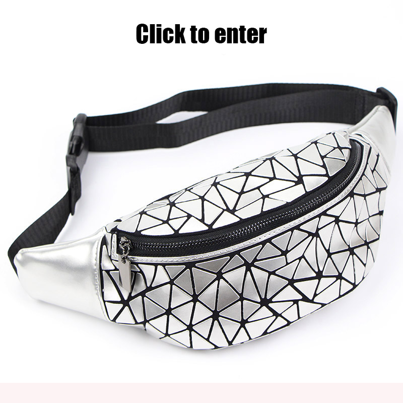New-Waist-Bags-Fanny-Pack-For-Women-Belt-Bag-Geometry-Sequin-Fanny-Pack-Female-Luminous-Waist