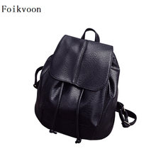 Foikvoon Women Backpack small Popular Casual Woman Bags Fashion Cow Split Leather Designer Backpacks Lady(China)