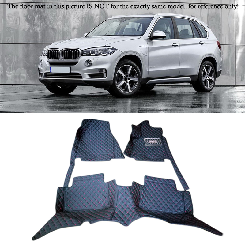 14-17 for BMW X5 F15 2014 2015 2016 2017 Accessories Interior Leather Carpets Cover Car floor Foot Mat Floor Pad 1set 4pcs stainless steel side door body molding cover trim for bmw x5 f15 2014 2015 car accessories