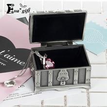 Мини Ремесла Металл Ретро Пиратский Сундук коробка для хранения для кольцо и серьги организатор шкатулка чехол для хранения desktp Декор