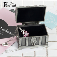 Metal Retro Pirate Chest Storage Box For Ring Earring Organizer Jewelry Box Jewelry Storage Case