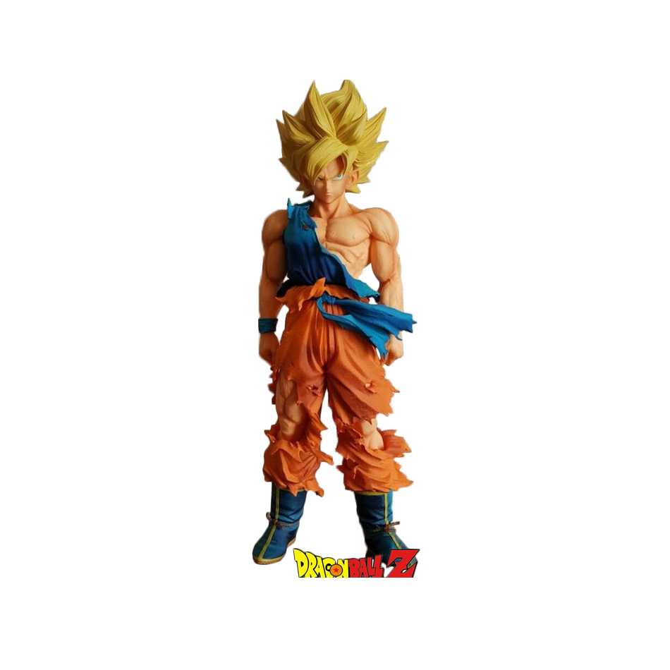 XINDUPLAN Dragon Ball Z Dragonball Son Goku MSP Kakarotto Super Saiyan Battle Damage Anime Action Figure Toy 36cm PVC Model 0664 6pcs set dragon ball z super saiyan pvc action figures dragonball z son goku vegeta battle ver figure toys collection model toy