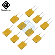 10 шт. многоразовый выключатель сбрасываемый предохранитель поли переключатель предохранитель полипредохранитель 0.65A 250 В 650 мА Diy