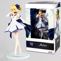 Japanese Anime Action figure Fate/stay Night Grand Order ALTER night saber white dress Pvc model collection doll with box
