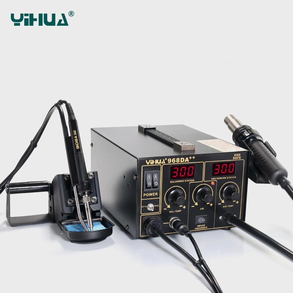 YIHUA 968DA ++ elektrooniline mobiiltelefon 3 IN1 jootmise kuuma õhu - Keevitusseadmed - Foto 3