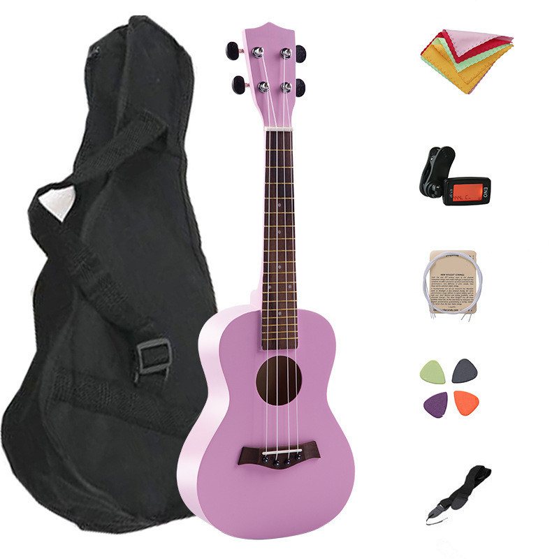 2017 Hot 23 Inch Ukulele Guitar Rosewood Basswood  4 Strings Hawaiian With Bag Strap Tuner Wiper Spare String Pick