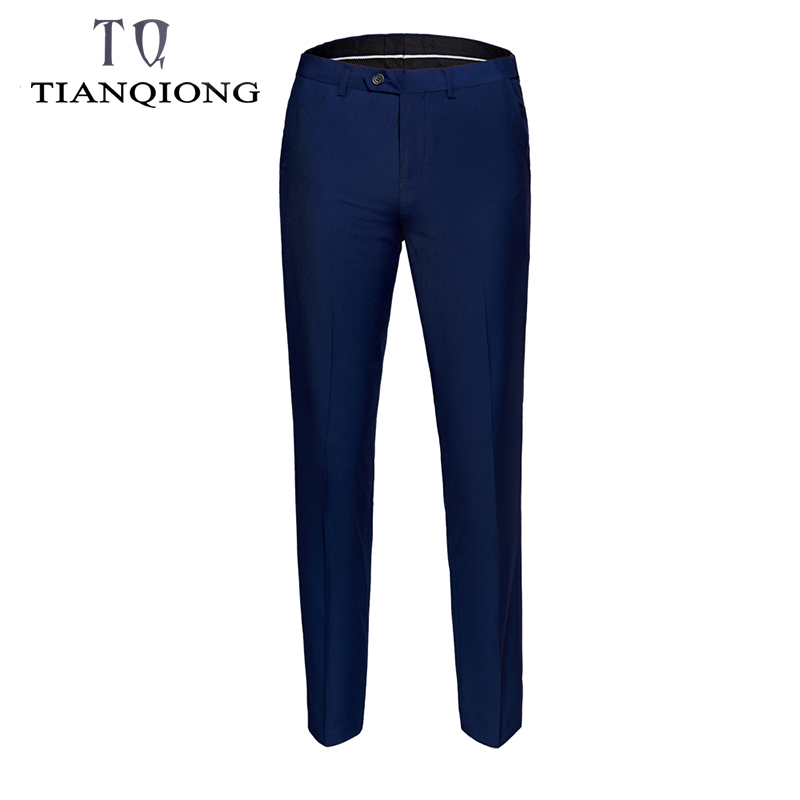 TIAN QIONG Mens Suit Pants Summer Men Dress Pants Straight Business Office Mens Formal Pant Classic Trousers Male Big Size S/6xl