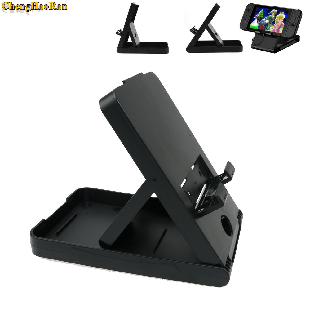 Image 1 - Foldable ABS Adjustable Holder Support Frame Bracket Compact Play stand Desktop Stand Bracket for Nintend Switch NS Host holder-in Replacement Parts & Accessories from Consumer Electronics