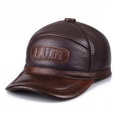HARPPIHOP New Design Mens 100% Genuine Leather Cap /Newsboy /Beret /Cabbie Hat/ baseball HatS