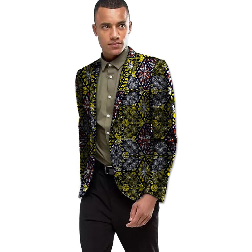 Africa Style Dashiki Print Suit font b Jacket b font Men Smart Casual Blazers African Festive