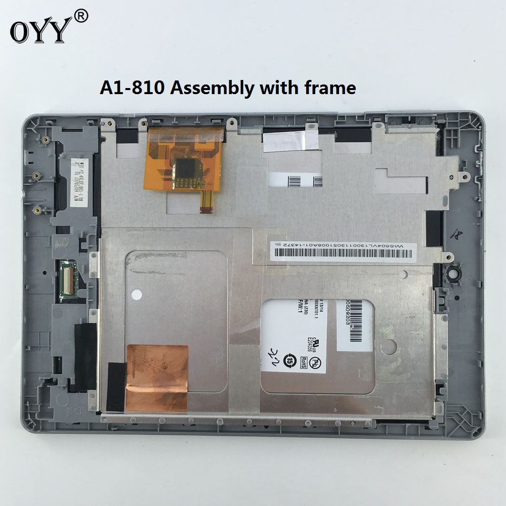 used LCD Display Touch Screen Matrix Digitizer Tablet Assembly with frame 7.9'' For Acer iconia tab A1-810 A1 810 A1-811 A1 811 5pcs lot high quality 7 9 for acer iconia a1 830 a1 830 25601g01nsw touch screen sensor tablet digitizer panel front glass lens