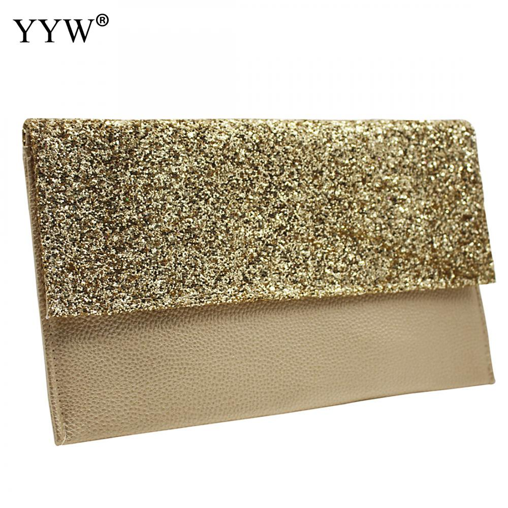 Women's Bags Top-handle Bags Candid Golden Evening Clutch Bag Women Bags Wedding Shiny Handbags Bridal Metal Bow Clutches Bag Chain Shoulder Bag