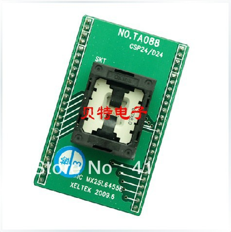 IC test socket block adapters convert burn wrote, TA088-B006 import cnv msop 8 test socket adapter convert burn msop8 to dip8