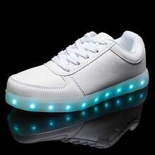 Кросовки кеды светящиеся светодиодов кроссовки led цветов из обувь