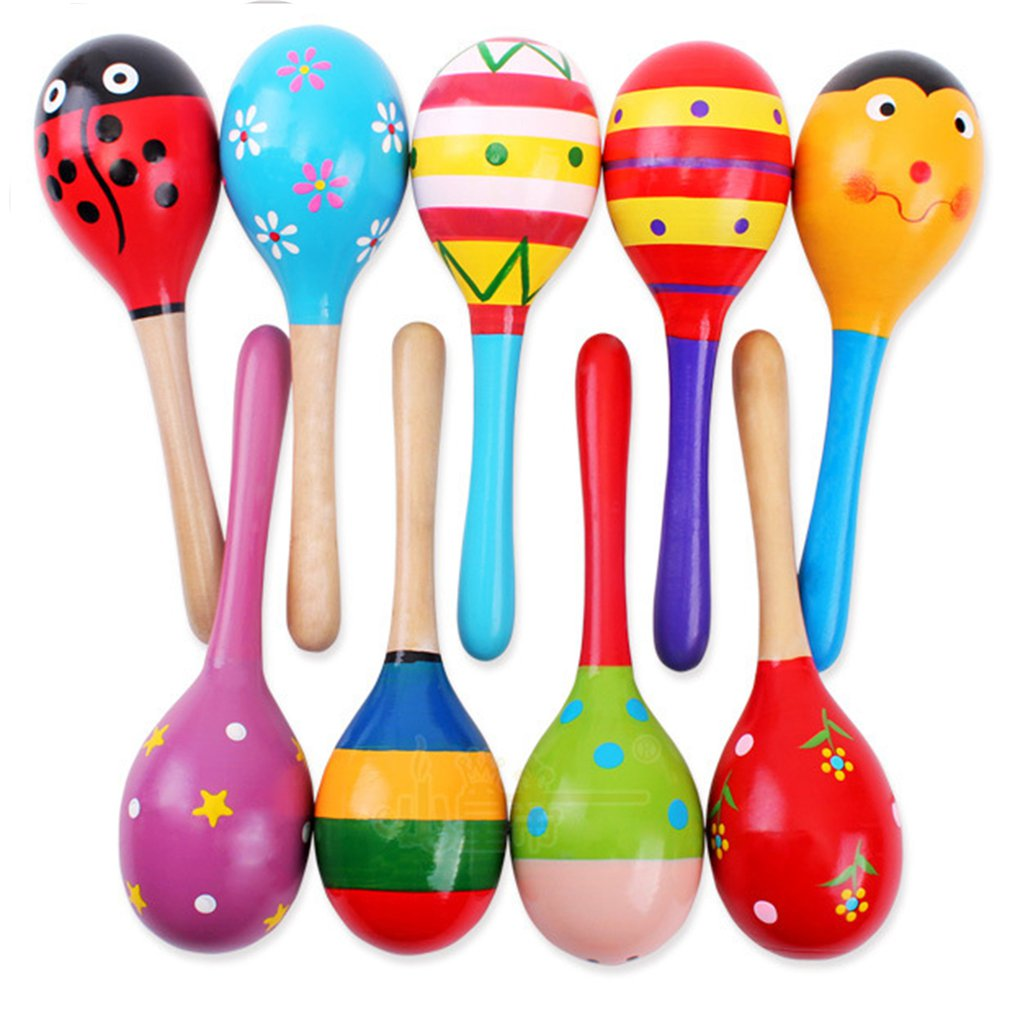 Buy Cheap Colorful Small Wooden Hammer Cartoon Sand Ball Knock Wooden Bell Baby Educational Toys Kids Best Gift Waterproof Shock-Resistant And Antimagnetic Sports & Entertainment
