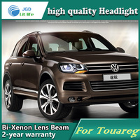 High Quality Car Styling Head Lamp Case For VW Toureg 11 2013 LED Headlights DRL Daytime