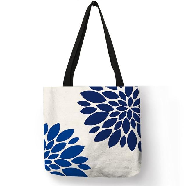 Two piece set  Headband /& shoulder bag set Floral tote bag Cute tote bag Laptop tote Stylish tote bag Carry all bag Navy mum tote bag