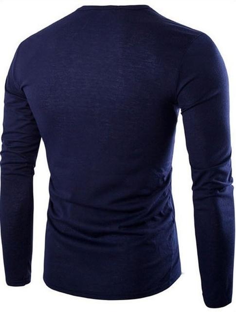 Fashion Long Sleeve Printed Quality Men T Shirts