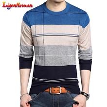 Men Spring Autumn Winter Brand Clothing Pullover 2019 Men Casual Striped Pull Slim fit Men jersey clothing knitwear Sweater