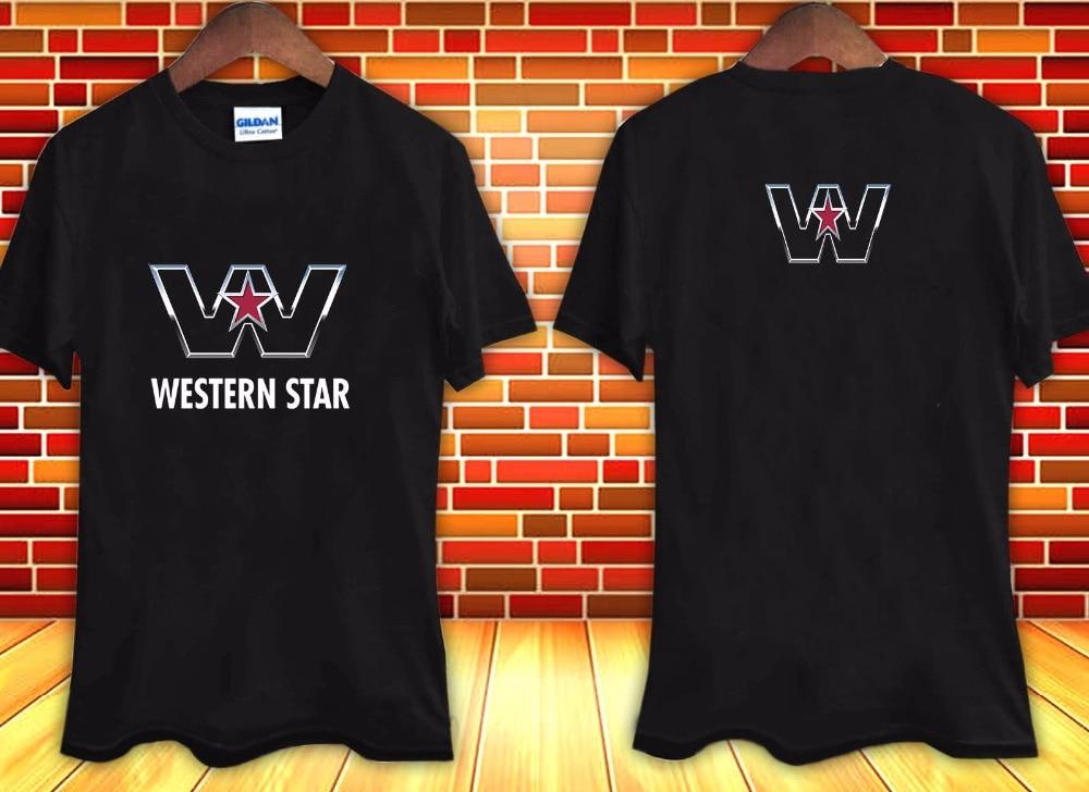 2017 New Casual T Shirt Tee Novelty Cool Tops T Shirt Western Star Trucks Logo Men'S Design O-Neck Short-Sleeve T Shirts