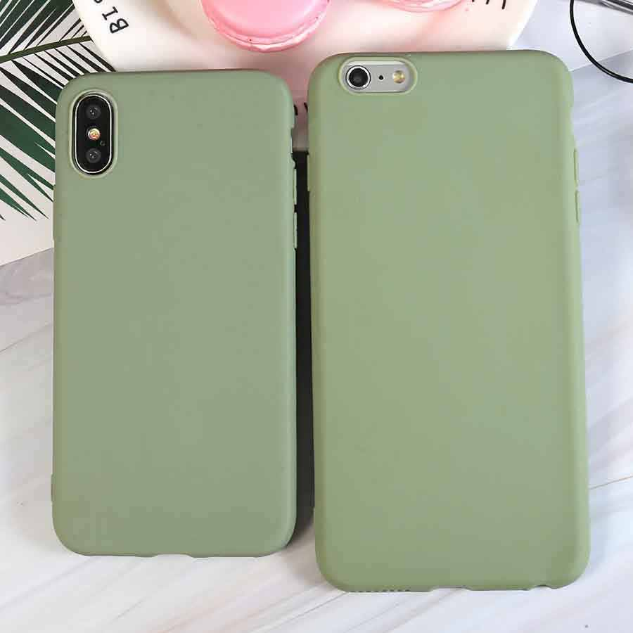 Fashion Bean Groen Siliconen Telefoon Case Voor Iphone X Xr Xs Max 5 5S Se 6 6S 7 8 Plus 11 Pro Max 2019 Cover Coque Fundas