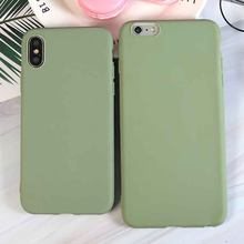 Fashion Bean Groen Siliconen Telefoon Case Voor iPhone X XR XS Max 5 5S SE 6 6S 7 8 Plus 11 Pro Max 2019 Cover Coque Fundas(China)