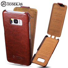 TOMKAS Case For Samsung Galaxy S8 Vintage PU Leather Flip Cover Case For Samsung S8 Business Phone Bag Cover For Galaxy S8 Cases