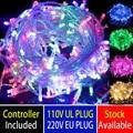 10m meChristmas string EU plug UL plug led strip 100 led / m color light flash light christamas light party decoration lights