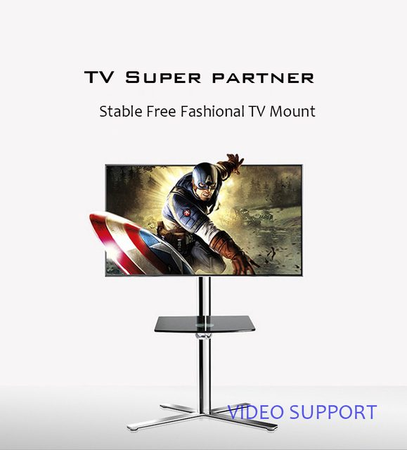 "Fashional Floor TV Stand Mount Movable TV Bracket Mobile TV Carts Fit for 32""~65"" TV, Max Support 30KG Weight"