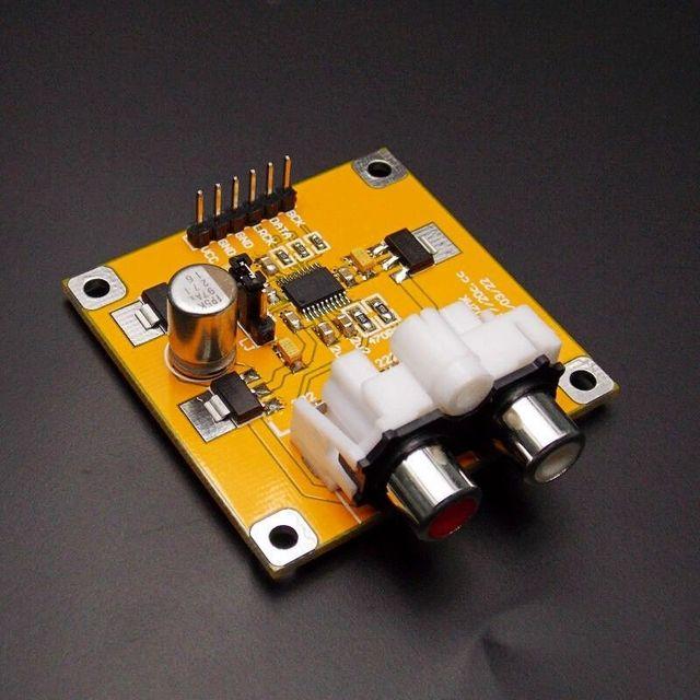 PCM5102 ĐẮC Bộ Giải Mã I2S Người Chơi Lắp Ráp Tàu 32Bit 384 K Ngoài ES9023 PCM1794 tương thích Raspberry Pi
