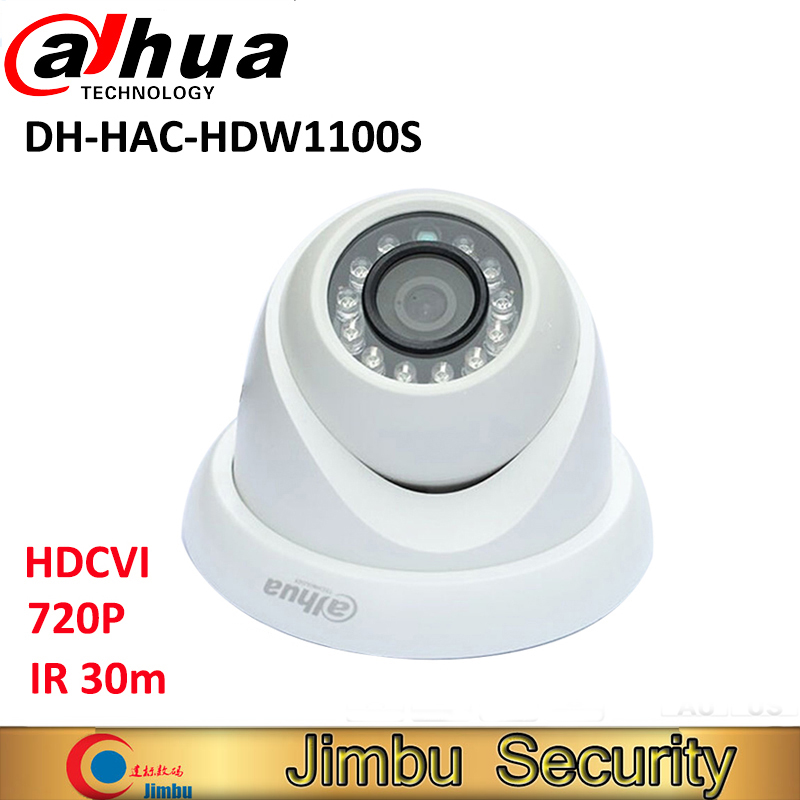 Dahua HDCVI camera HAC-HDW1100S 720P 1MP Mini Dome Camera IR30m IP67 Security CCTV Camera HDW1100S
