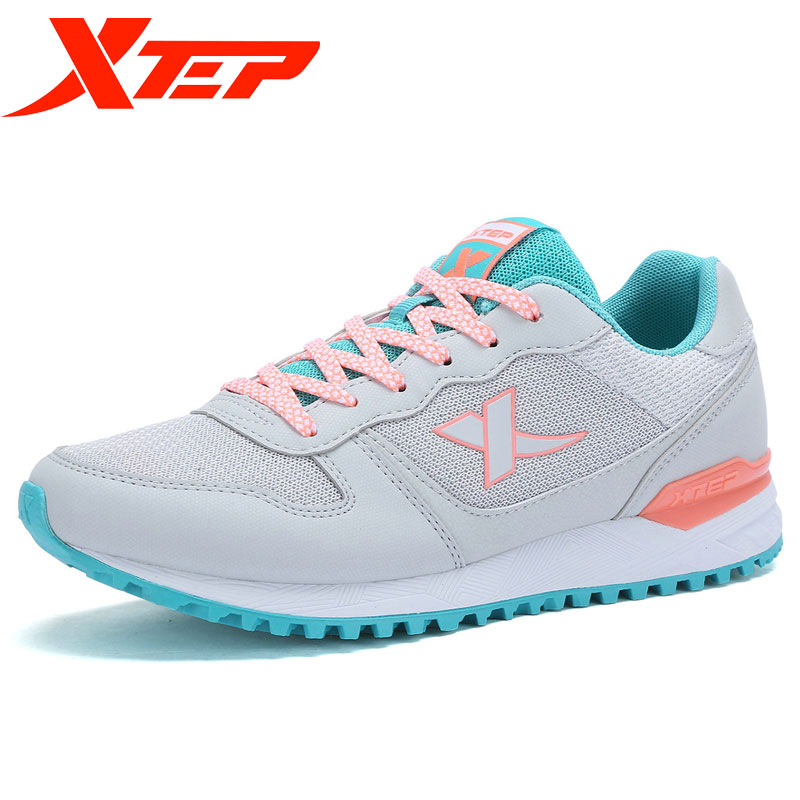 XTEP Women running shoes outdoor sport sneakers walking shoes women lace up sneakers 983218326056 camel shoes 2016 women outdoor running shoes new design sport shoes a61397620