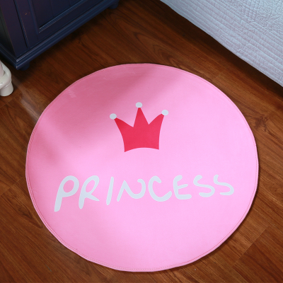 round pink rug. Polyester Girl Room Princess Crown Round Pink Carpet Coffee Table Bedroom Bedside Bed Rug Cushion Basket Computer Gift-in From Home \u0026 Garden On 2