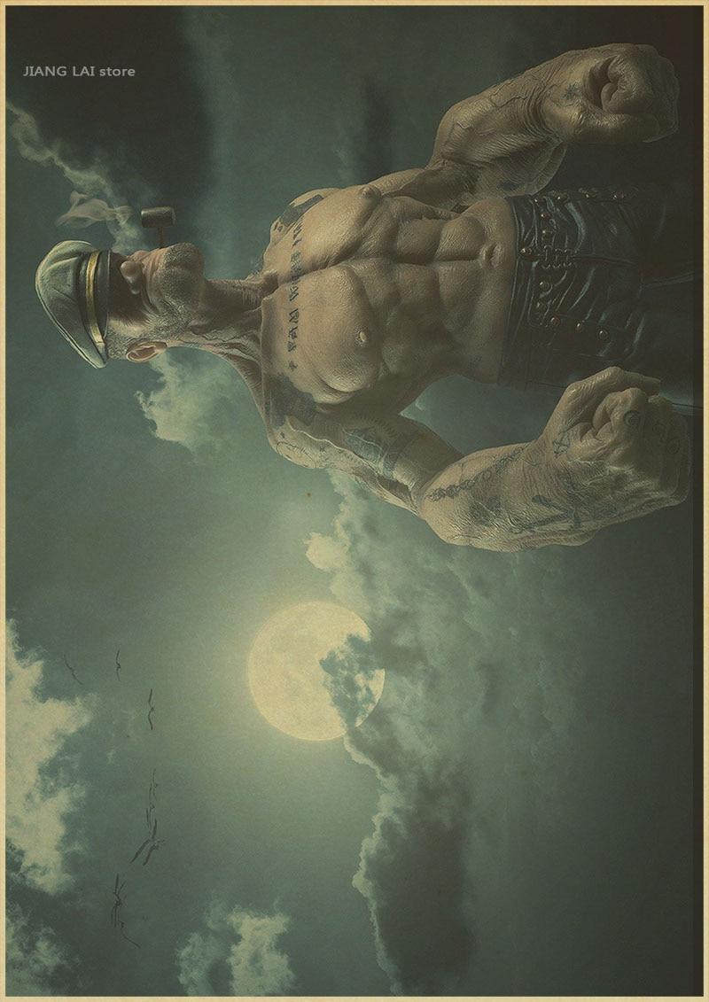 Popeye The Sailor Man Retro Movie Painting Print POSTER Plakat