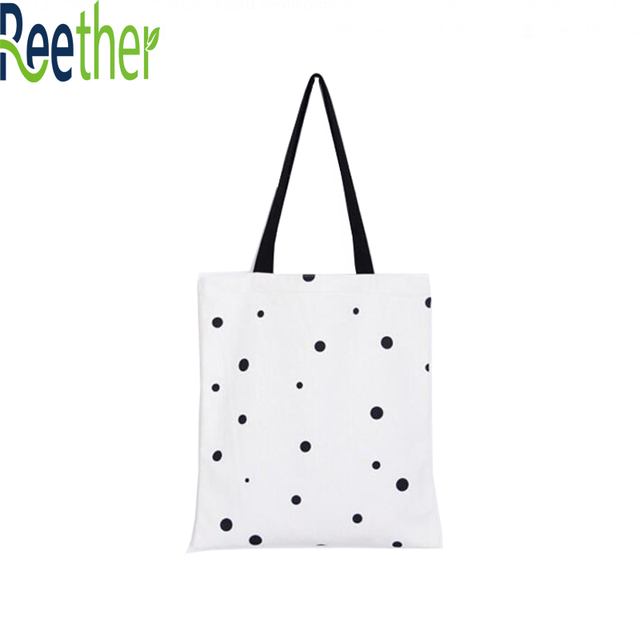 Reether Women Shopping Bag Female Canvas Daily Used Tote Bag Ladies