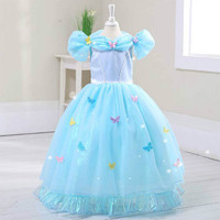 Girls Princess Dress Children Clothes Kids Party Wedding Pageant Formal Ball Gown Dresses Cinderella Performance Costume.YL44B