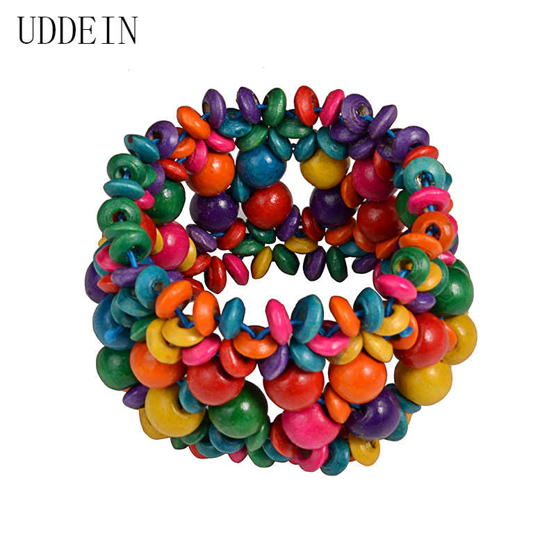UDDEIN 2017 New Arrival Vintage bracelet for women bohemian one direction strand bracelets multi layer wood statement Jewelry