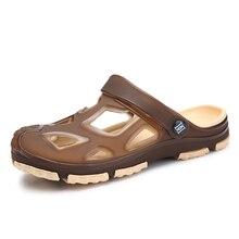 New Comfortable Men Beach Sandals 2018 Soft Clogs Casual Garden Shoes Hole Breathable Flip Flops High Quality цены онлайн