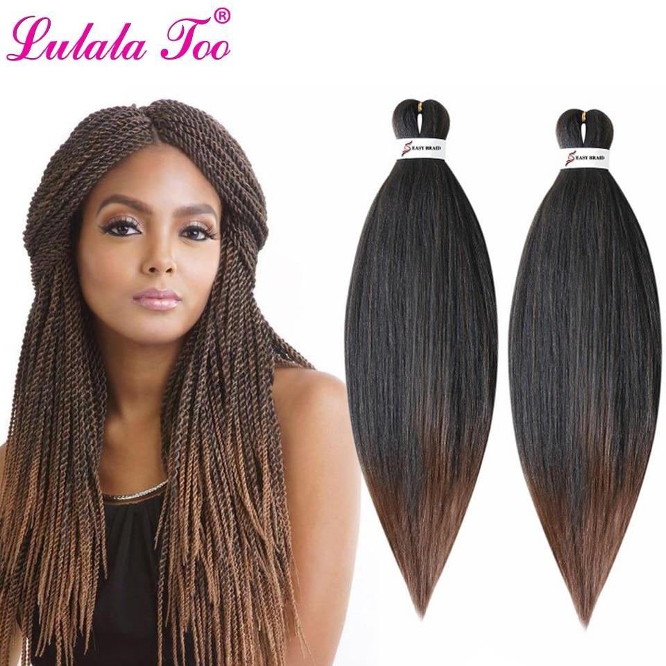 Perm yaki fácil jumbo tranças ombre pré-esticado trança cabelo sintético crochê tranças extensão do cabelo 20