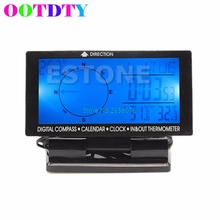 Best price Multifunction Car Digital Compass With Calendar Function Clock In/Out Thermometer GBP Luminous MY9_25
