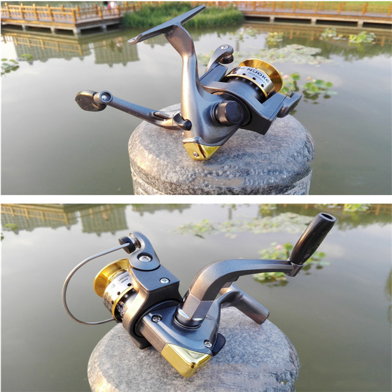 2019 New metal wire cup without gap fishing reel sea bream long throw squid wheel folding interchangeable rocker spinning wheel(China)