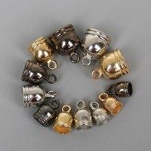 50 шт./лот CCB бусинки из пластика концы кисточки колпачки бусины обжимные колпачки бусины крышки для ожерелья Браслет DIY ювелирные изделия ручной работы