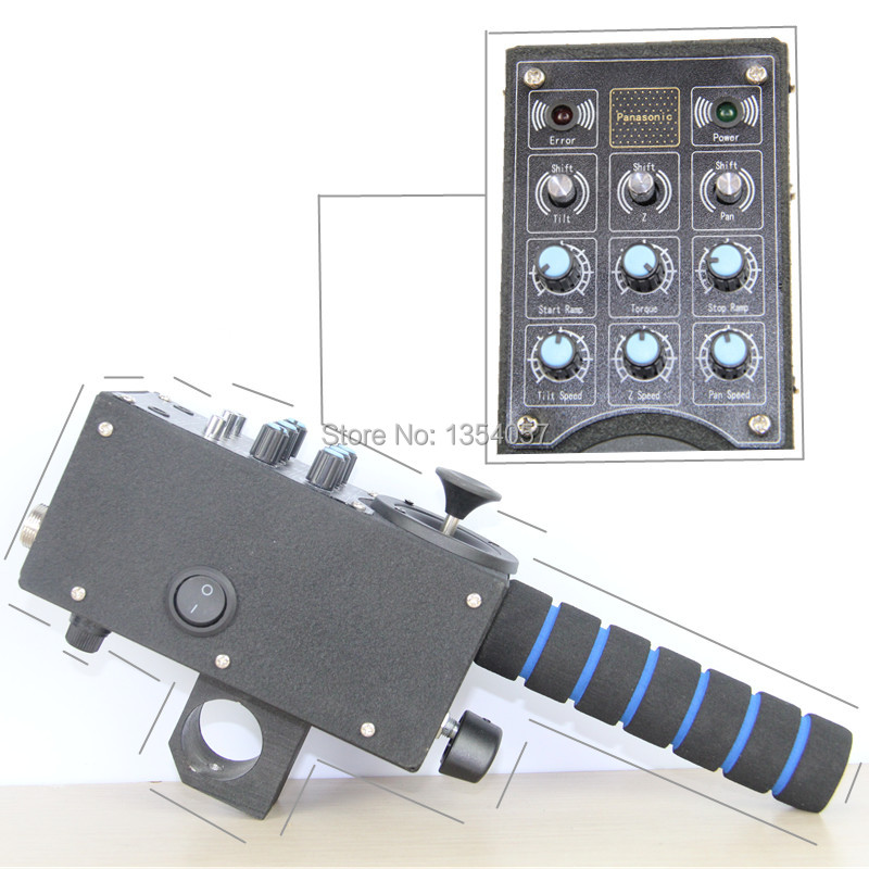 3-axis Remote pan tilt controller for motorised head for camera jib arm