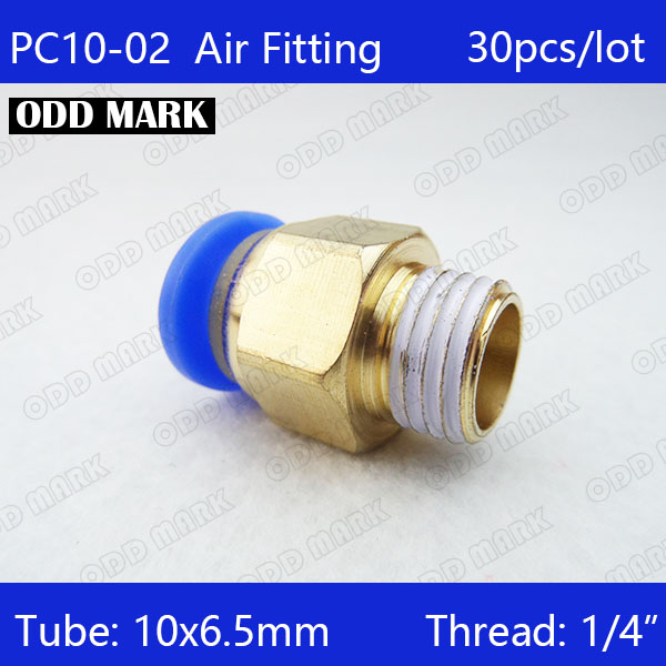 Free shipping HIGH QUALITY 30pcs 10mm to 1/4 Pneumatic Connectors male straight one-touch fittings BSPT PC10-02 10pcs lot 4mm to 1 4 bspt elbow male air pneumatic quick connect jointer connectors fitting pl4 02