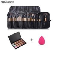 FOCALLURE 24 Pcs Premiuim Makeup Brush Set High Quality Soft Nylon Professional Makeup Brush Tool