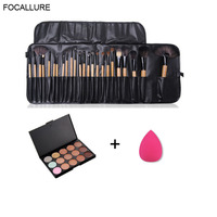 FOCALLURE 24 Pcs Premiuim Makeup Brush Set High Quality Soft Nylon Professional Makeup Brush Tool