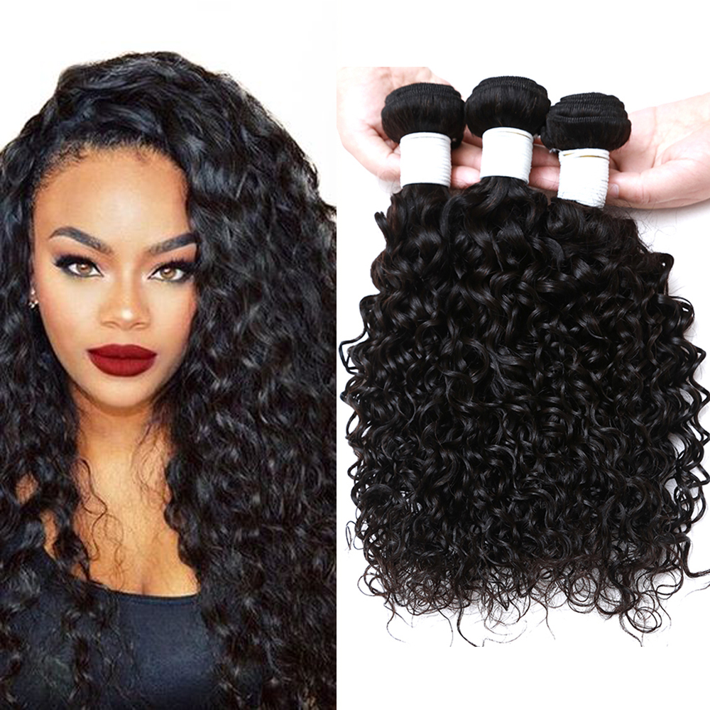 7a Cheap Brazilian Water Wave Hair 3 Bundles Thick Human Hair Water