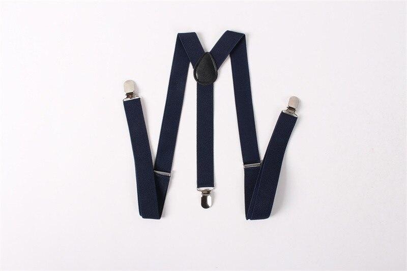 Mantieqingway Children Suspenders Adjustable Belts Strap Solid Color Braces 3 Buckle Y-back Suspender For Women Men